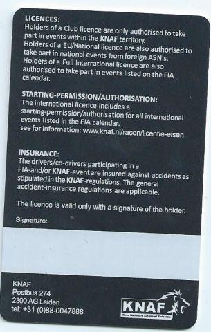 Achterkant licentie