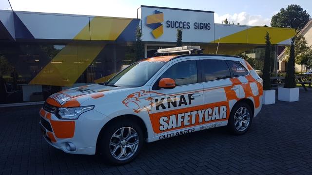 Nieuwe bestickering Safetycar