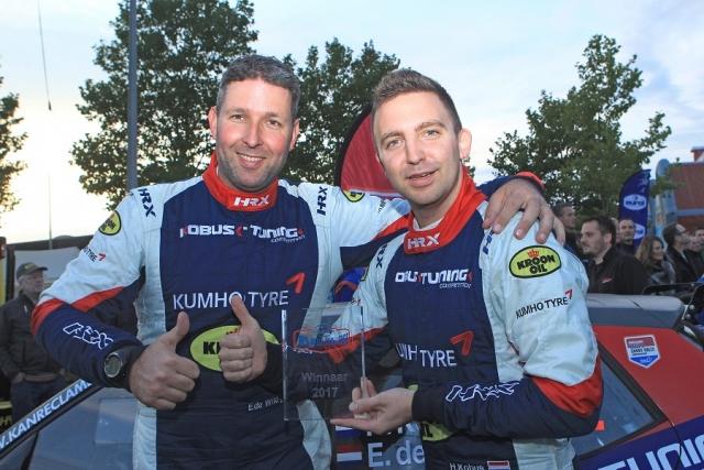 Eurol R5 Rally Challenge Hermen Kobus rechts kroonde zich in 2017 tot eerste winnaar van de Eurol R5 Rally Challenge 180303