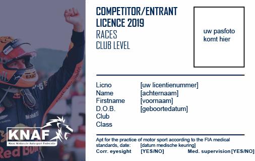 Club licentie 2019