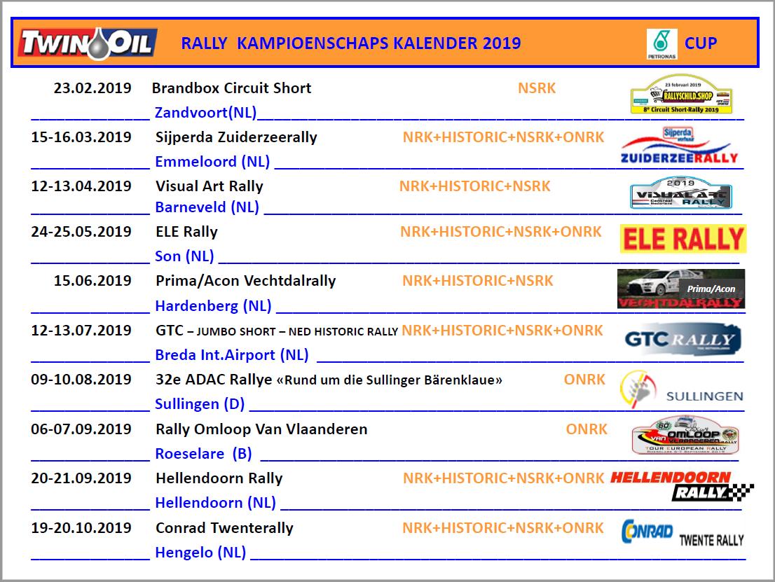 Rally Kalender 2019 V3
