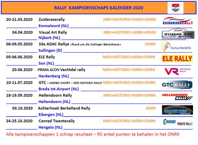 BSR Rallykalender 2020