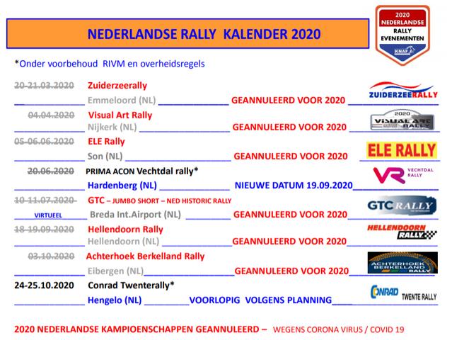 rally kalender 2020 aangepast