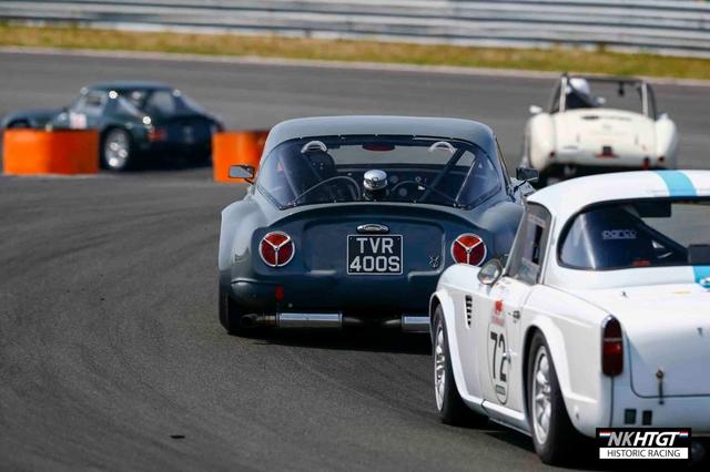 Niek van Gils TVR Griffith leading a TR4