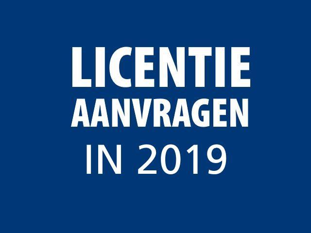 licentie aanvragen 2018